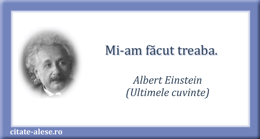 Albert Einstein, epitaf